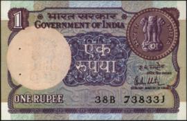 India P78.a 1 Rupee 1981