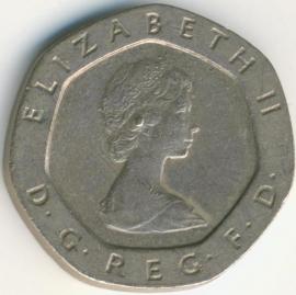 Engeland 20 Pence 1982 KM# 931