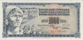 Joegoslavië P092c 1.000 Dinara 1978-1981