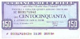 La Banca del Friuli - 150 Lire