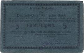 5 (Fünf) Rupien Interims-Banknote 1916. Ros933f