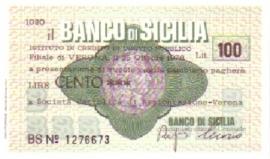 Il Banco di Sicilia - 100 Lire