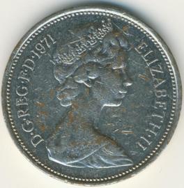 Engeland 2 New Pence 1971 KM# 916