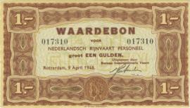 PL1650.3 1 Gulden 1946 Nederlandsch Rijnvaart Personeel Waardebon