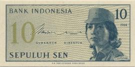 Republiek Indonesië B545 P92 H283: 10 Sen 1964