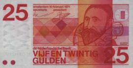 Nederland PL70.f1 25 Gulden 1971
