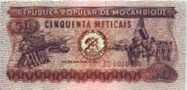 Moçambique P125.a 50 Meticais 1980