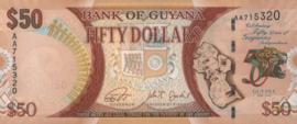 Guyana P41 50 Dollars 2016