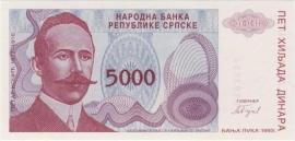 Servië P149: 5.000 Dinara 1993 UNC
