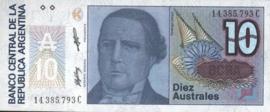 Argentinië P325.b 10 Australes 1986 (ND)