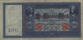 Duitsland P42.a Wit papier 100 Mark 1910