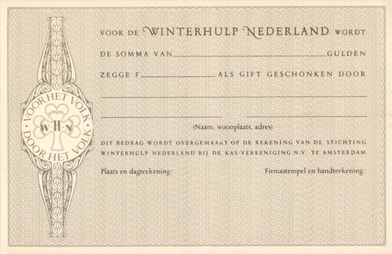 Winterhulp - Fondsenwerving ±1940 Not listed.