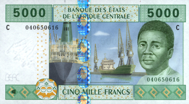 Tsjaad P609C.a 5.000 Francs 2002