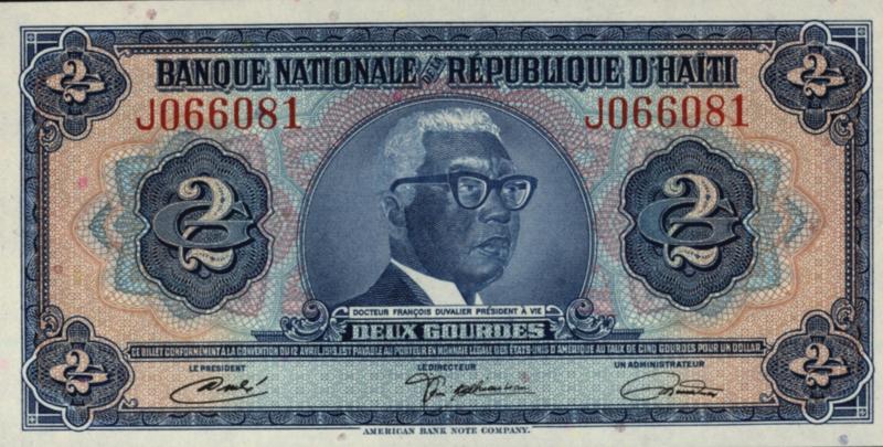 Haïti P201 2 Gourdes No date (L.1919)