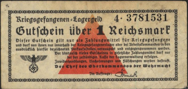 Duitsland - Kampgeld DWM-23 1 Reichsmark 1939-1945 (No date)