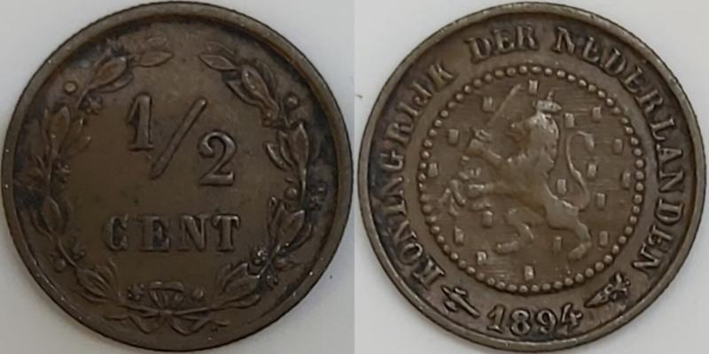 Nederland ½ Cent 1894
