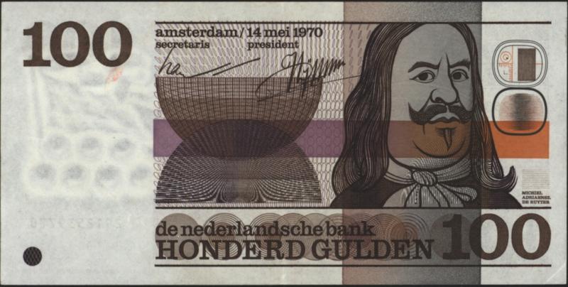 Nederland PL103.b 100 Gulden 1970
