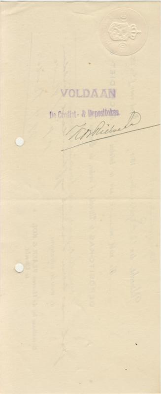 Nederland, Utrecht, Deposito aan toonder, 1924