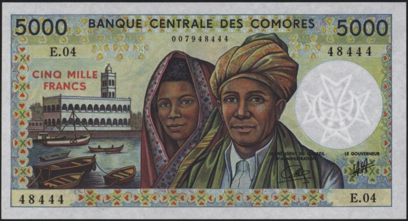 Comoren P12.b 5.000 Francs 1986-94 (No date)
