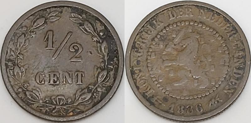 Nederland ½ Cent 1886