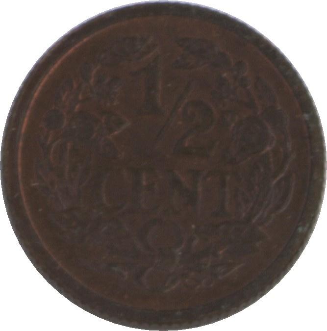 Nederland Sch.1017 ½ Cent 1934