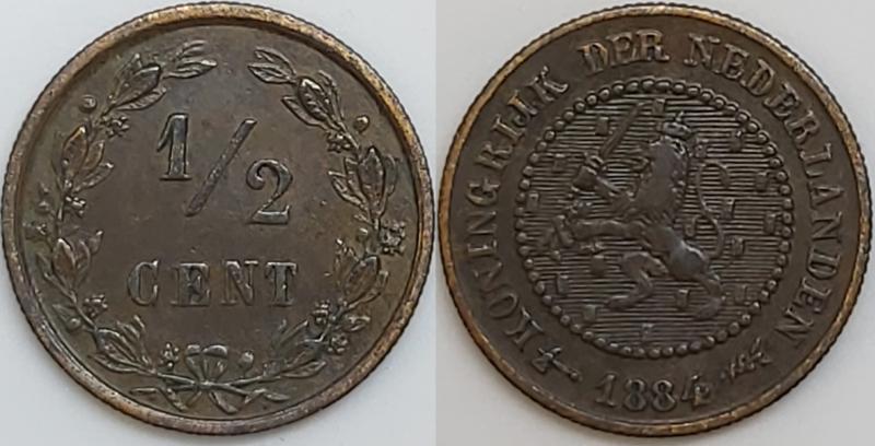 Nederland ½ Cent 1884