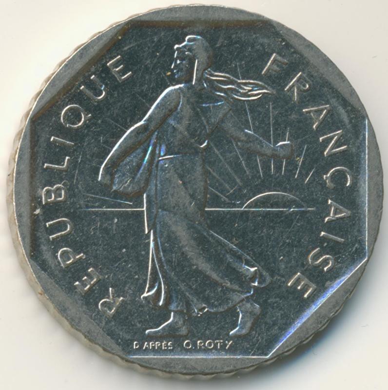 Frankrijk 2 Francs KM942.1