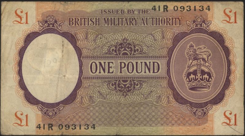 Engeland, Militaire uitgaven PM6.a 1 Pound 1943 (No date)