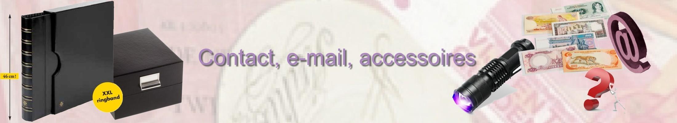Contact, e-mail, accessoires