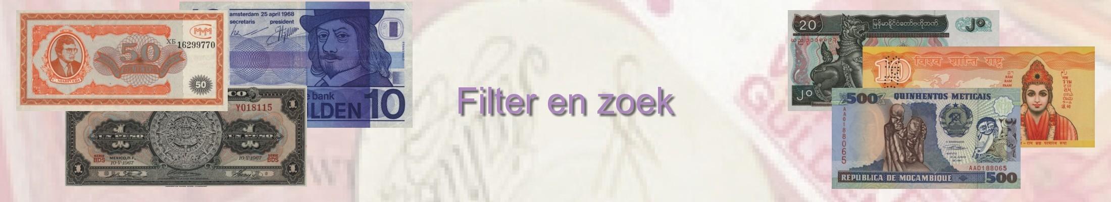 Filter en zoek