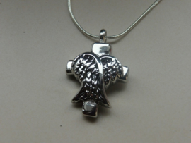 Pendant for cremation ashes Angel wings
