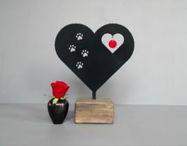 Mini urn hart -huisdier
