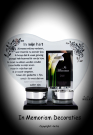 "Tealight holder with keepsake ""in my heart"""
