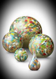Glaskunst urn Flowerfield  4 liter