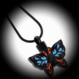 Pendant for ashes coloured butterfly