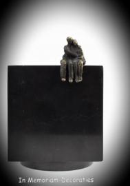 Mini urn zwart marmer Liefde