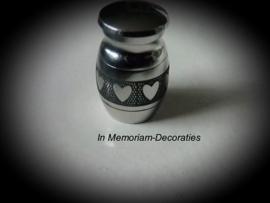Mini urn met hartjes