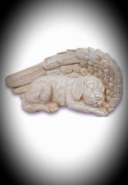 Honden urn met Engelvleugel