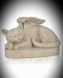 Cat urn with Angel wings