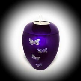 Urn met Waxinelichtje Vlinders (0.1 liter)