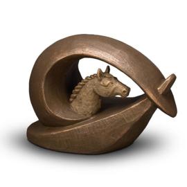 Keramische paarden urn Brons