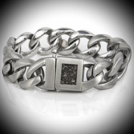 Edelstalen As armband