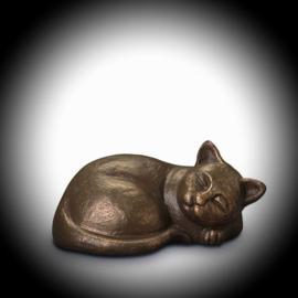 "Urn Bronze ""Playful cat"""