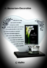Heart with poem, candlelight holder and photo frame