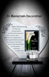 """In Memoriam hart met gedicht """"Mijn Herinnering"""""""