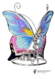 Tiffany Tealightholder Butterfly -violet