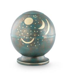 Messing urn zon  maan en sterren
