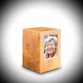 Fotolijst Box urn Mahonie kleur