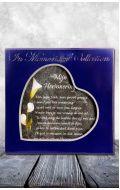 Houten Gedenkhart met Gedicht en Asbuisje (0.015 liter)