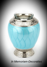 Keepsake cremation urn with candle-Teal
